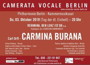 Carmina Burana meets Comedian Harmonists @ Berlin, Philharmonie (Kammermusiksaal)